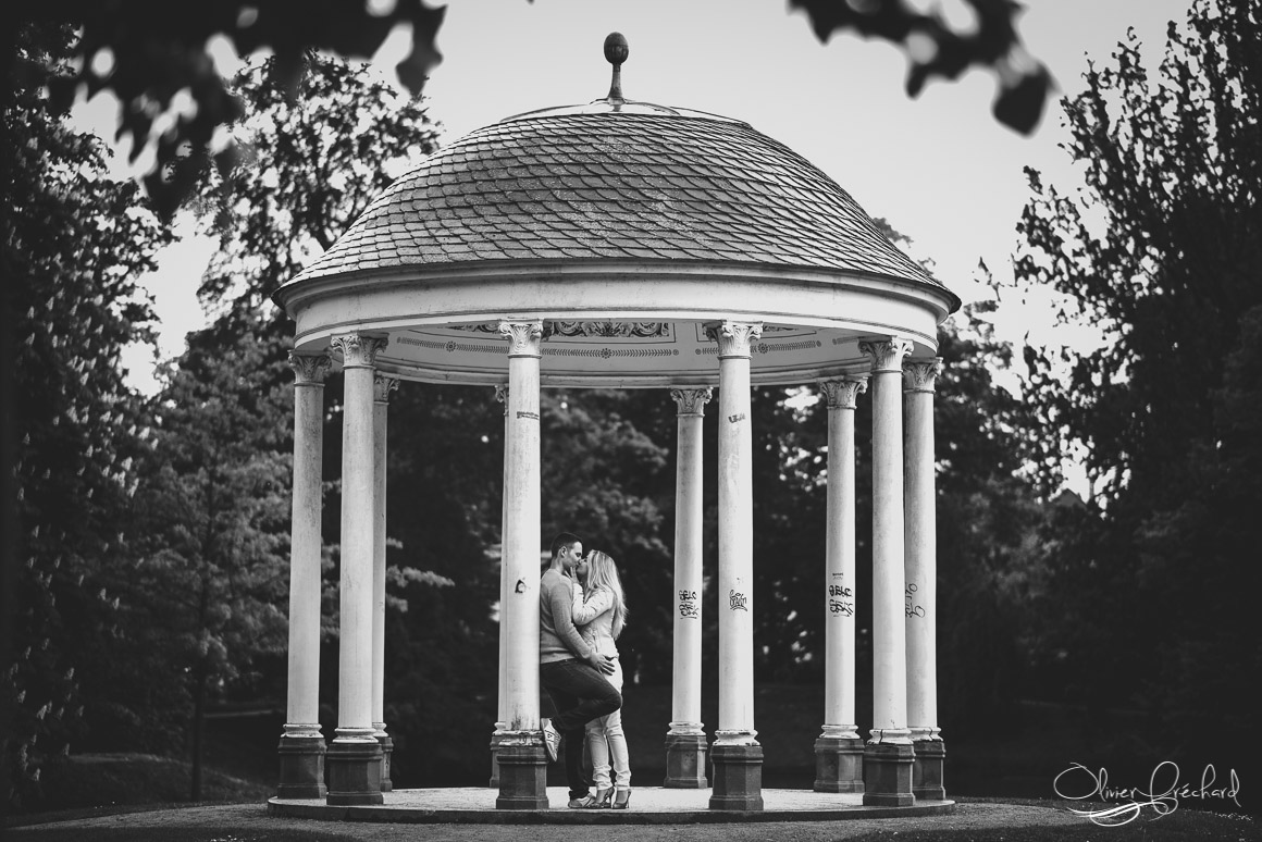 photo de couple à l'Orangerie à Strasbourg