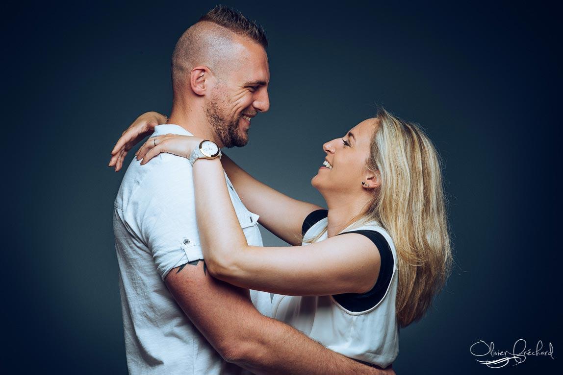photo de couple en studio à Strasbourg