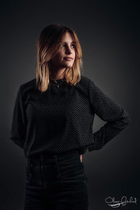 portrait réalisé en studio photo à Strasbourg
