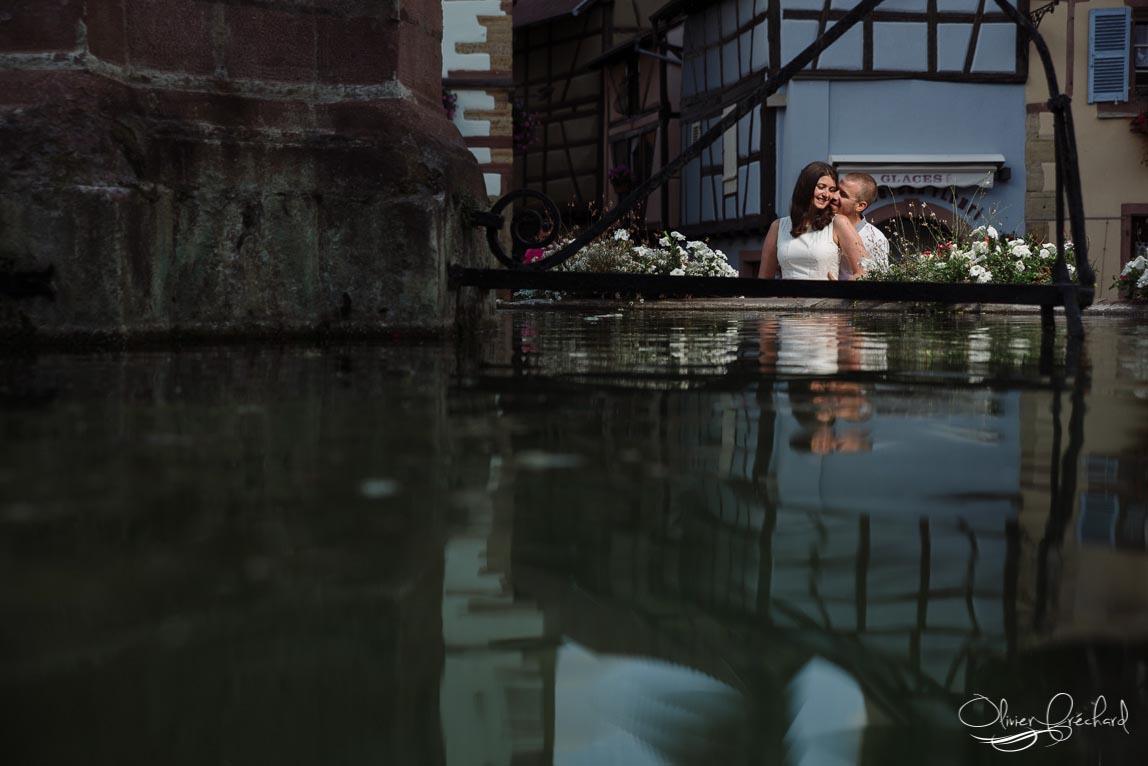 Photo de couple à Eguisheim en Alsace
