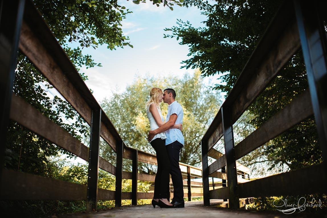 photo de couple en alsace au couché de soleil