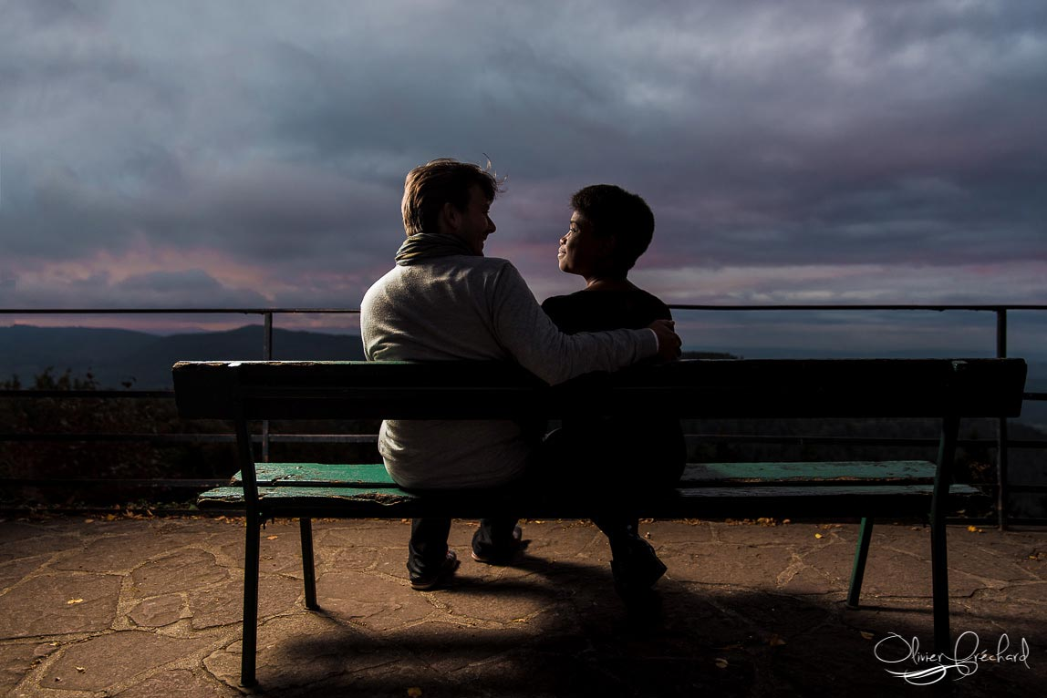 photo de couple au mont saint Odile