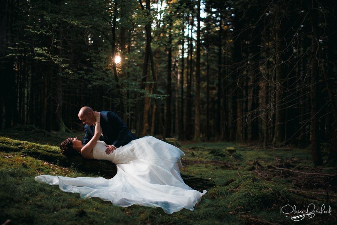 photo de mariage en forêt en Alsace