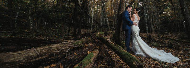 photo de mariage en forêt