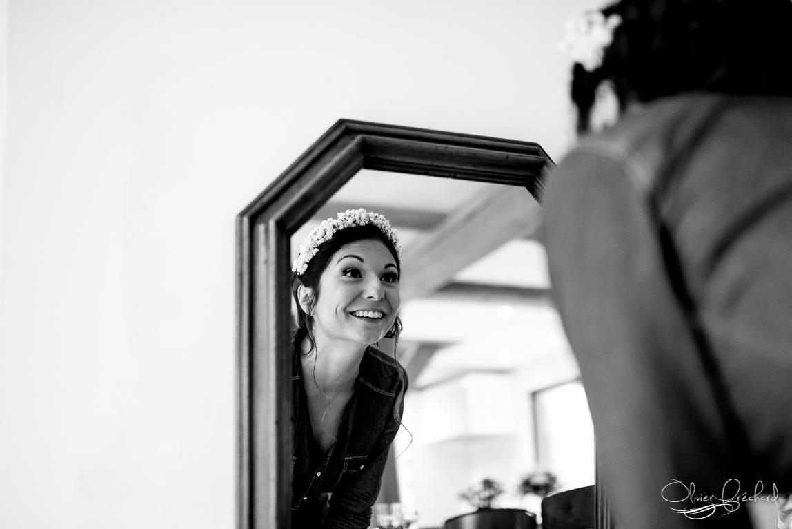photo de préparatif de la mariée par Olivier Fréchard
