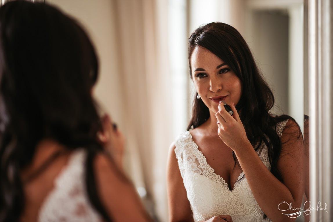 photo de préparatifs de la mariée par Olivier Fréchard