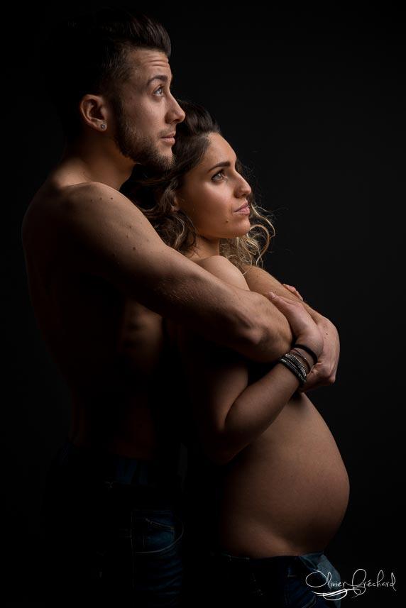 photo de grossesse magnifique au studio Olivier Fréchard à Strasbourg