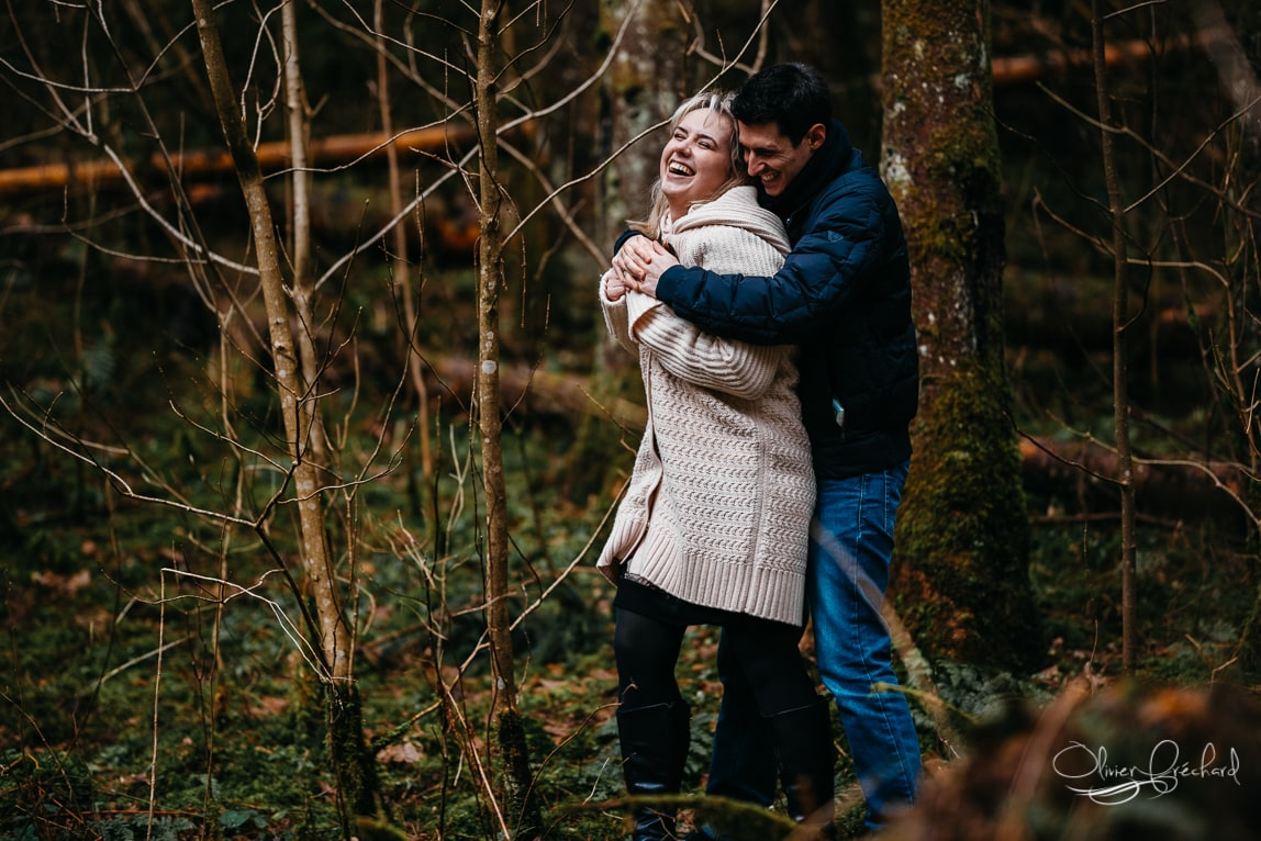 Photo de couple en foret en Alsace