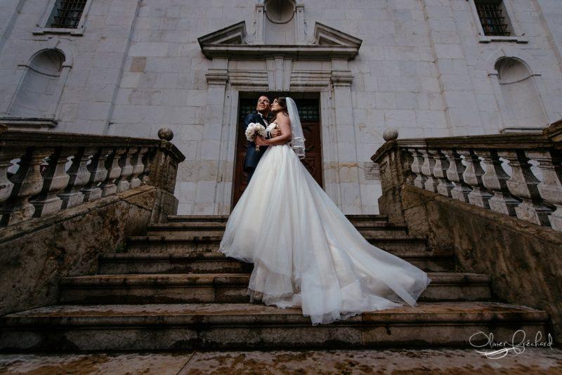 photo de mariage au couché de soleil en Alsace