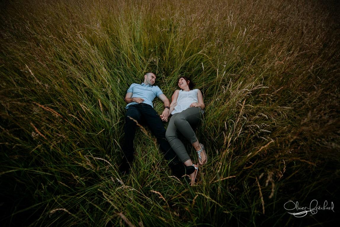 photo de couple dans la nature en alsace