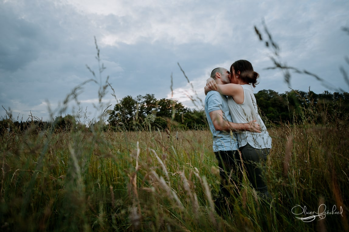 photo de couple dans la nature en alsace