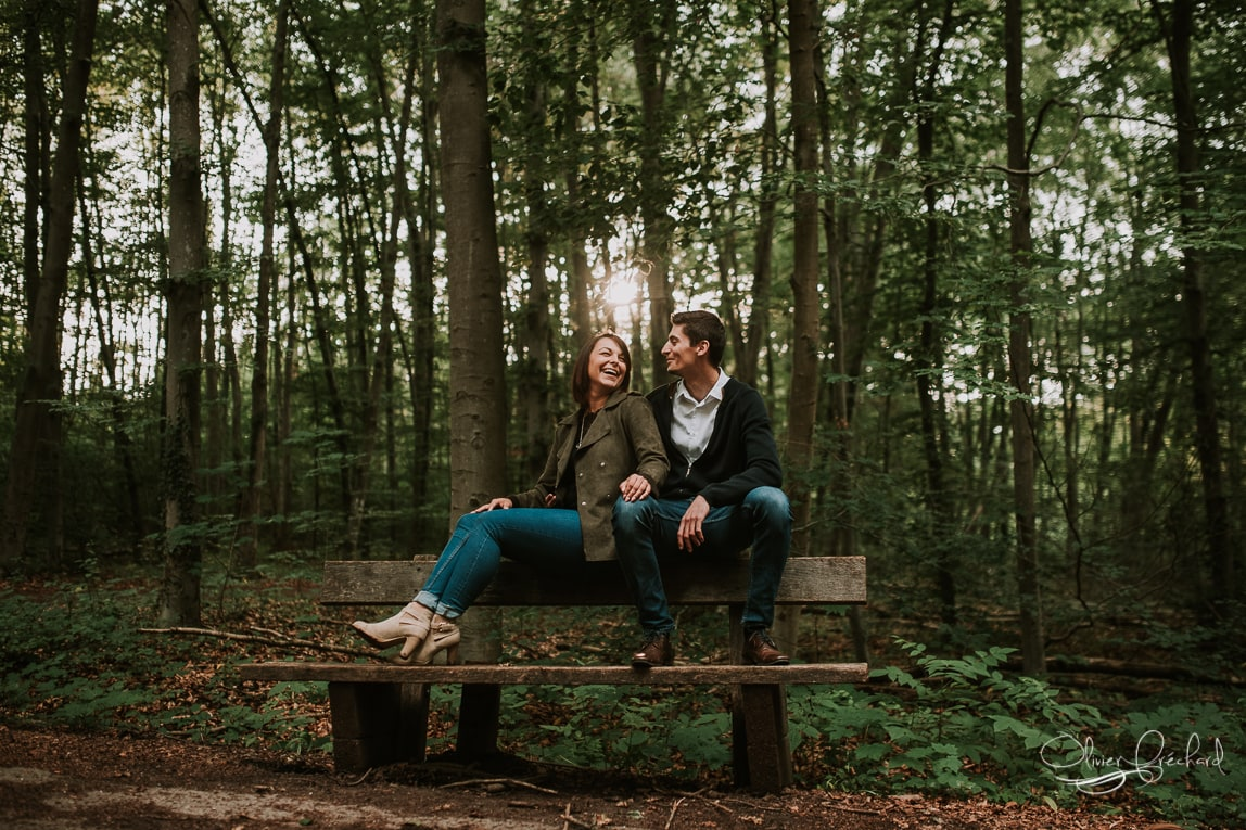 photo de couple en foret