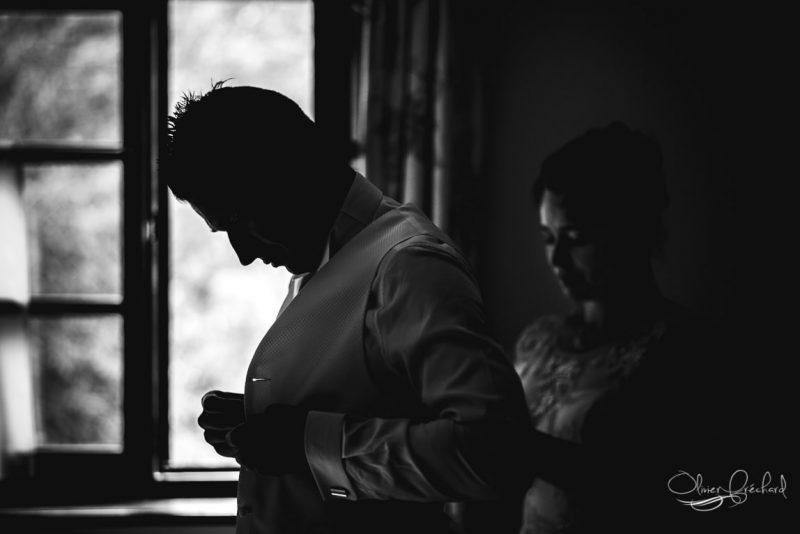 photo de préparatifs de mariage à Strasbourg au Château de l'île