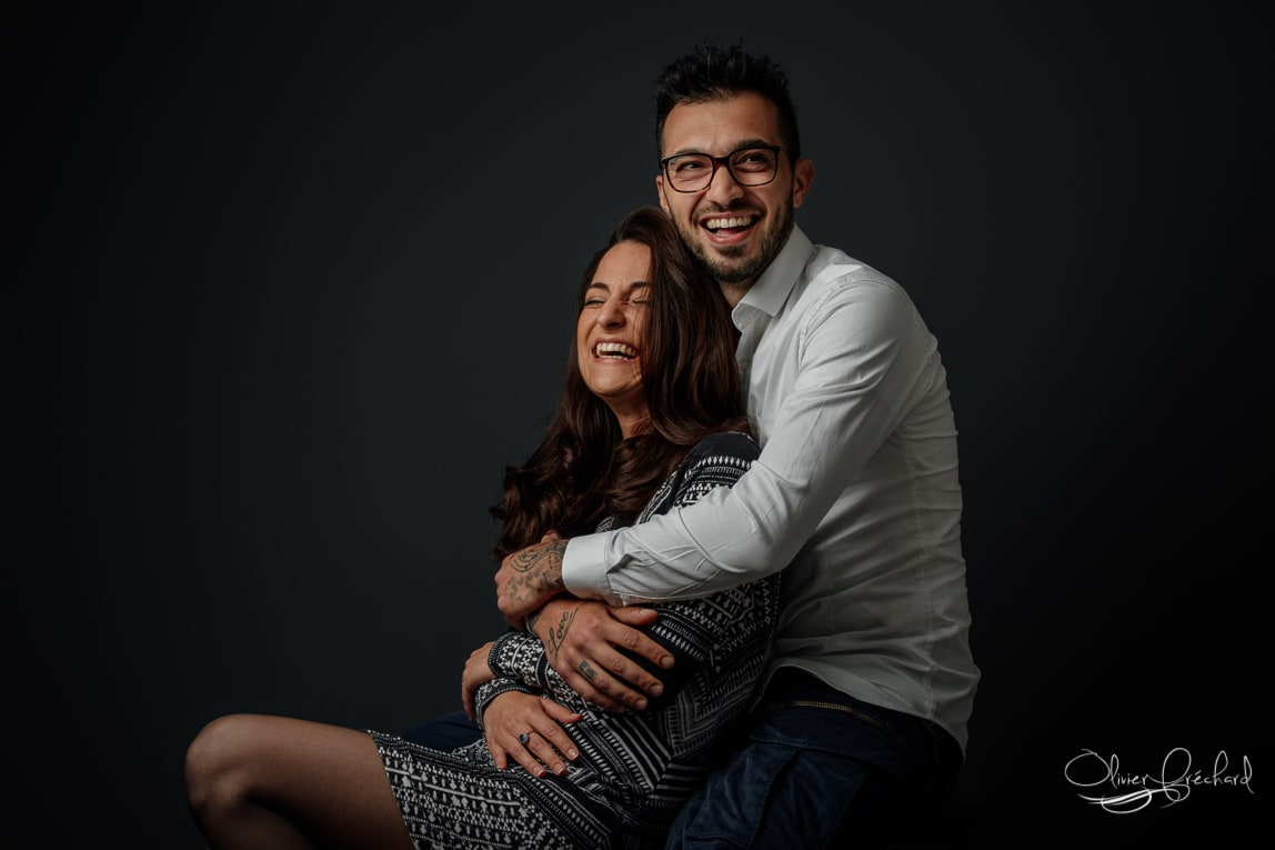 Photo de couple en studio à Strasbourg