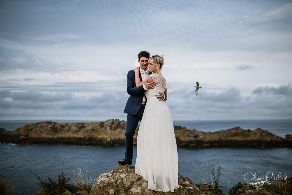 Photos de mariage en Bretagne à la mer