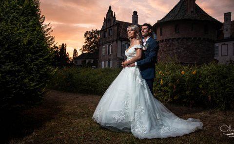 photos de mariage au château d'osthoffen